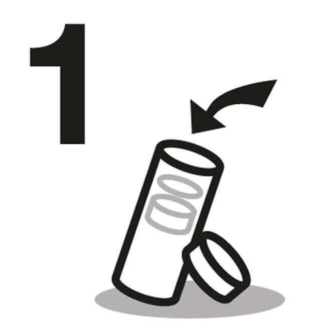 Instrucción de Botella aislada 1