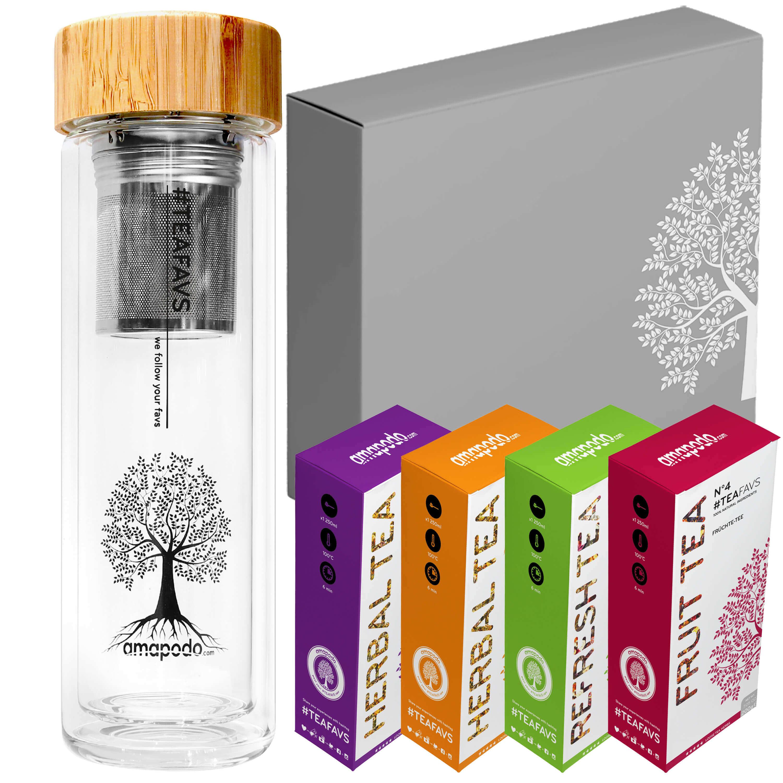 Teekanne Tee-Box-Angebot Geburtstags-Geschenk-Set für Frauen und Männer
