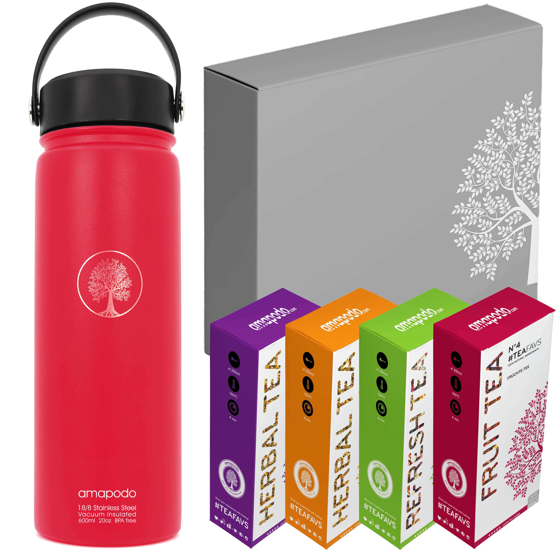 Bottiglia per bevande rosso set regalo da tè