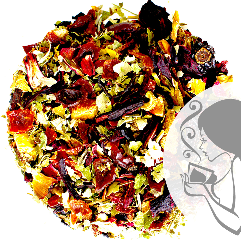Bouteille Thermo doré coffret thé