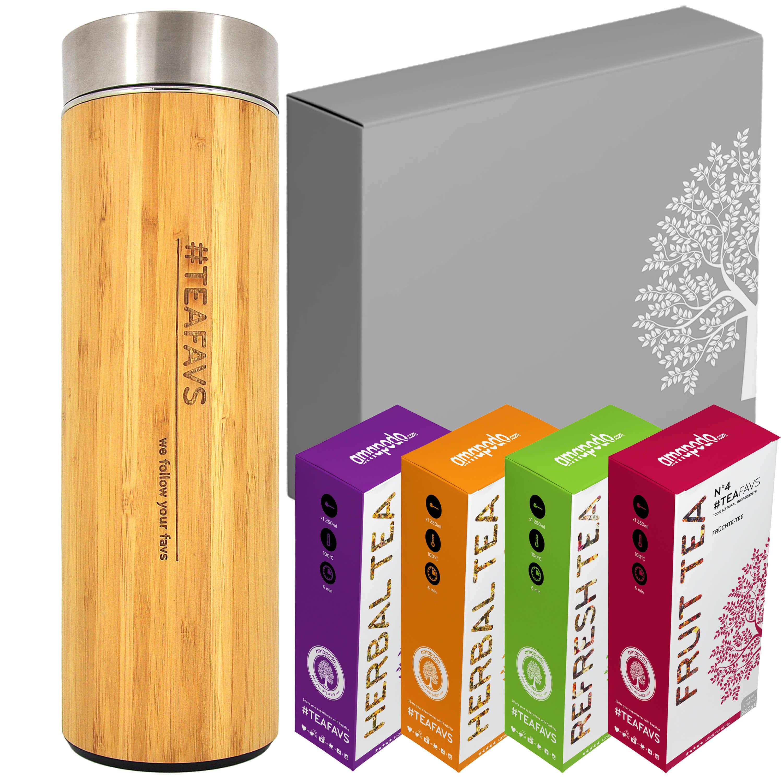 Thermo Bottiglia scatola con offerta di té regalo di compleanno set per donne e uomini